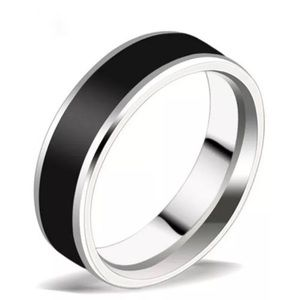 Other - Black and silver stainless steel ring